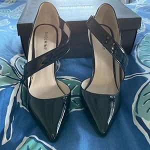 Shoemint Wendy Black Patent Pump 8.5 New in box